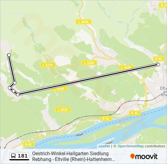 Linie 181 Fahrplane Haltestellen Karten Eltville Rhein