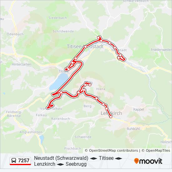 Südschwarzwald Karte.Linie 7257 Fahrpläne Haltestelle Karten Lenzkirch