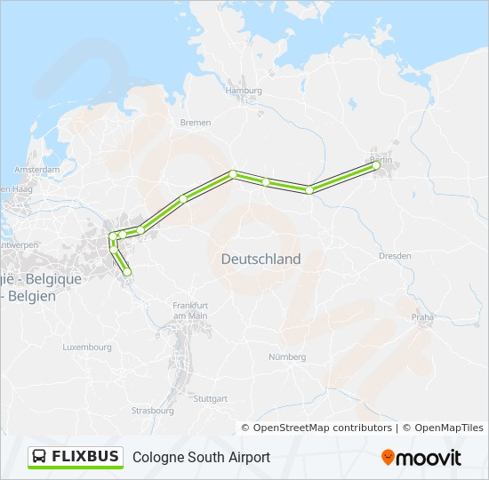 FLIXBUS Route: Time Schedules, Stops & Maps - Cologne South ...