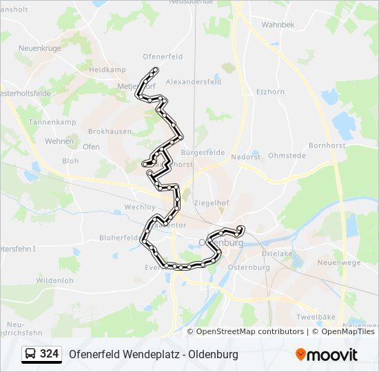 Linie 324 Fahrplane Haltestellen Karten Oldenburg Oldb Zob