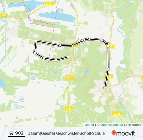 Emsland Karte.Linie 902 Fahrpläne Haltestelle Karten Dalum Geeste