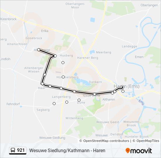 Emsland Karte.Linie 921 Fahrpläne Haltestelle Karten Altenberge Haren Kirche