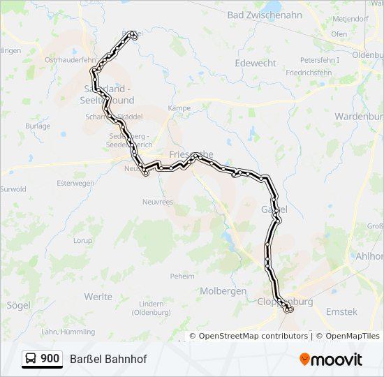Linie 900 Fahrplane Haltestellen Karten Barssel Bahnhof