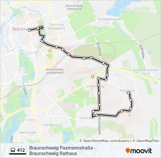 Linie 412 Fahrpläne Haltestelle Karten Braunschweig