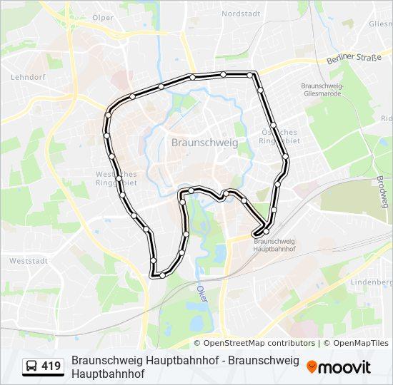 Linie 419 Fahrpläne Haltestelle Karten Braunschweig