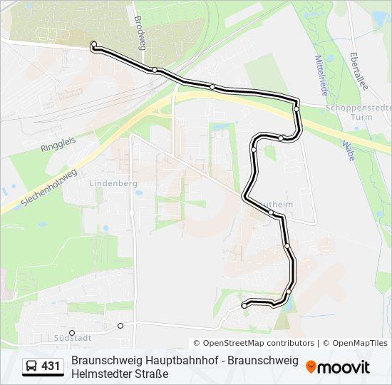Linie 431 Fahrpläne Haltestelle Karten Helmstedter Straße