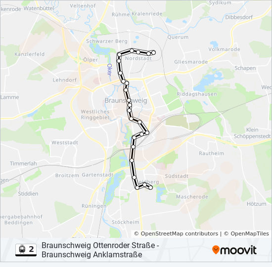 Linie 2 Fahrpläne Haltestelle Karten Braunschweig Anklamstraße
