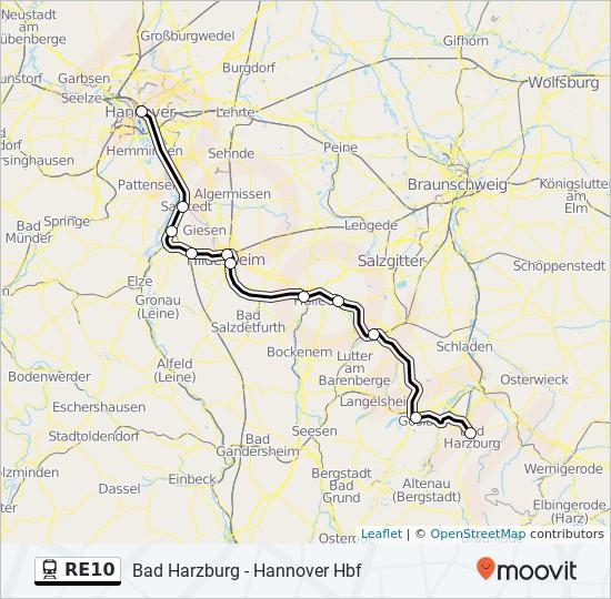 Niedersachsen Karte Pdf.Linie Re10 Fahrpläne Haltestelle Karten Bad Harzburg