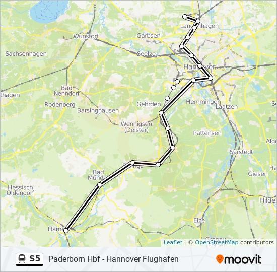 Hameln Karte.Linie S5 Fahrpläne Haltestelle Karten Hameln