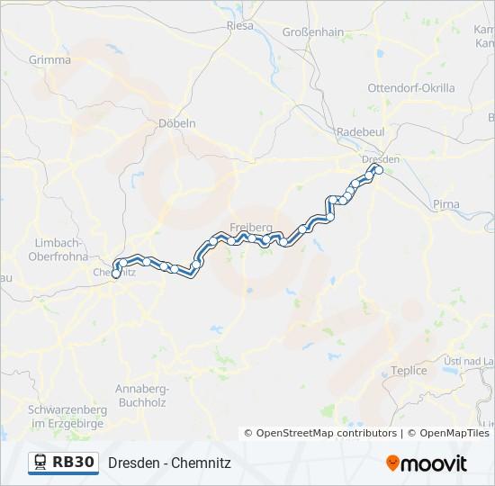 Karte Chemnitz.Linie Rb30 Fahrplane Haltestelle Karten Chemnitz