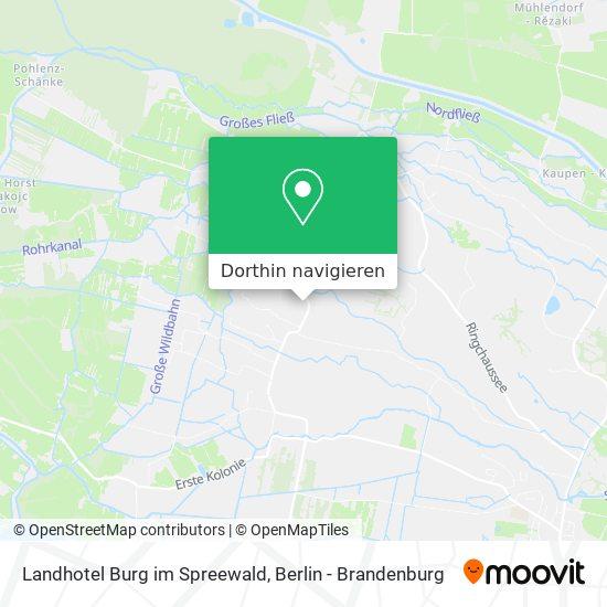 Landhotel Burg im Spreewald Karte
