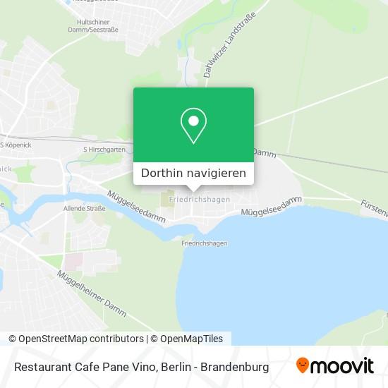 Restaurant Cafe Pane Vino Karte