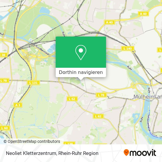 Wie Komme Ich Zu Neoliet Kletterzentrum In Mulheim An Der Ruhr Mit Dem Bus Der Strassenbahn Der Bahn Oder Der U Bahn Moovit