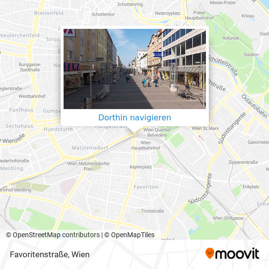 Favoritenstraße Karte