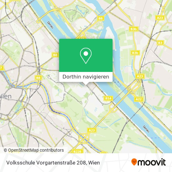 Volksschule Vorgartenstraße 208 Karte