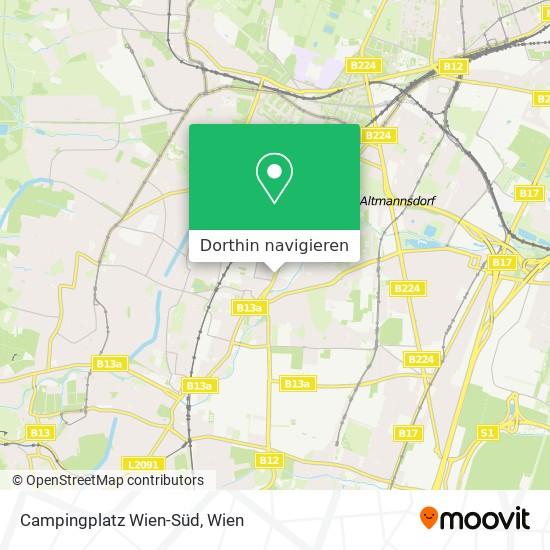 Campingplatz Wien-Süd Karte