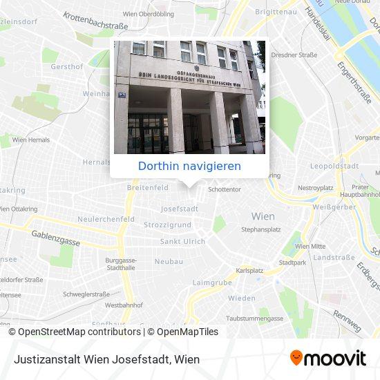 Justizanstalt Wien Josefstadt Karte