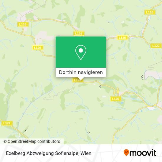 Exelberg Abzweigung Sofienalpe Karte