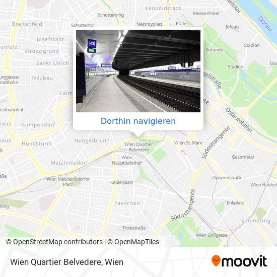 Wien Quartier Belvedere Karte