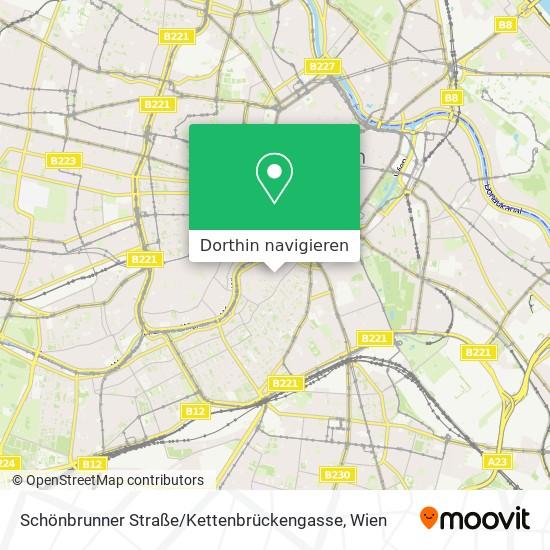 Schönbrunner Straße / Kettenbrückengasse Karte