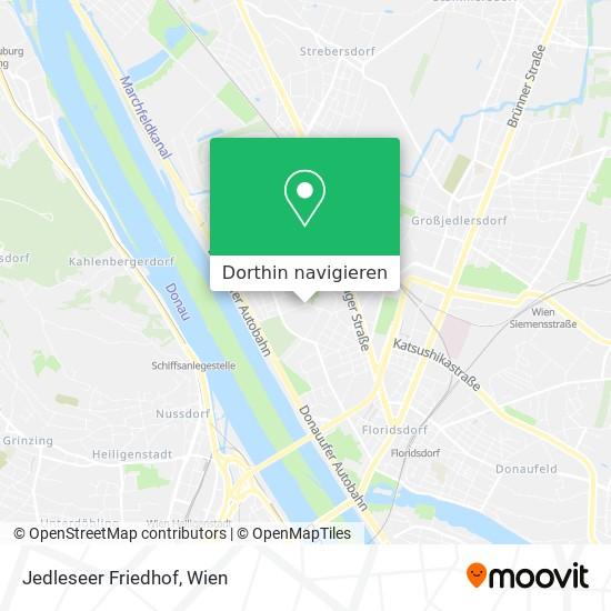 Jedleseer Friedhof Karte
