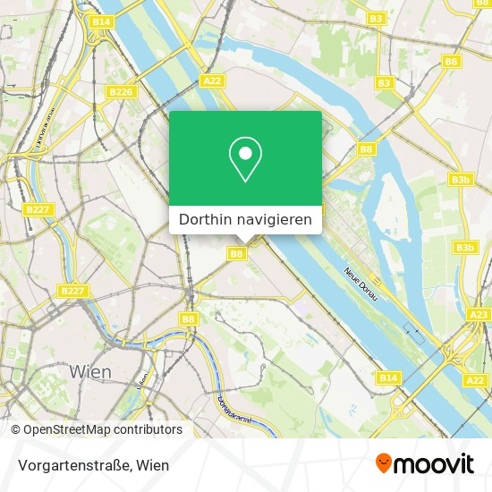Vorgartenstraße Karte