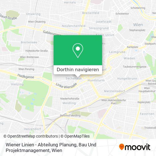 Wiener Linien - Abteilung Planung, Bau Und Projektmanagement Karte