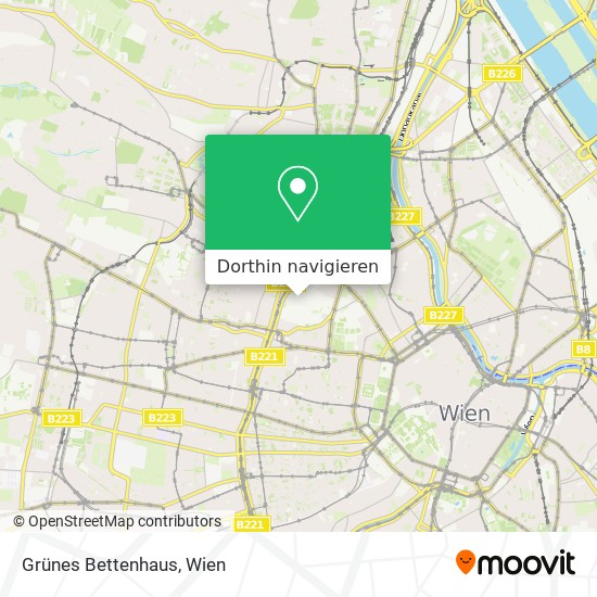 Grünes Bettenhaus Karte