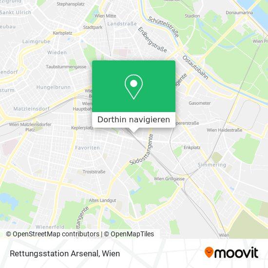 Rettungsstation Arsenal Karte