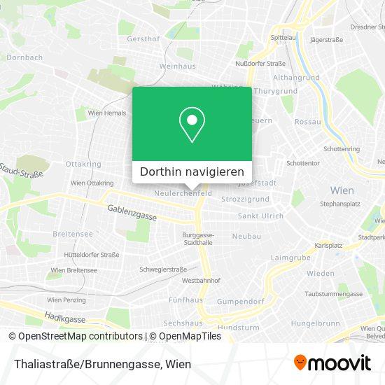 Thaliastraße/Brunnengasse Karte