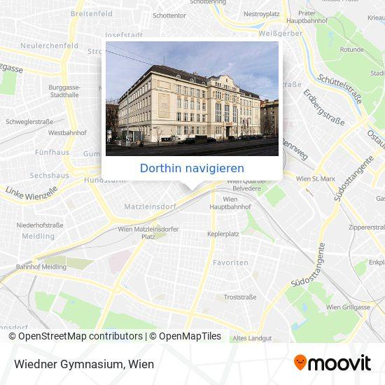 Wiedner Gymnasium Karte