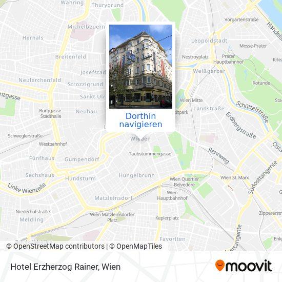Hotel Erzherzog Rainer Karte