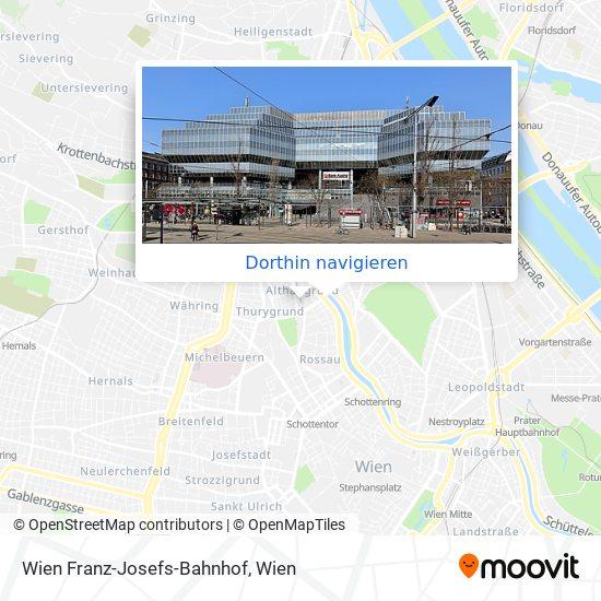 Wien Franz-Josefs-Bahnhof Karte