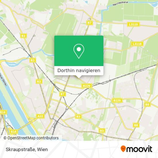 Skraupstraße Karte