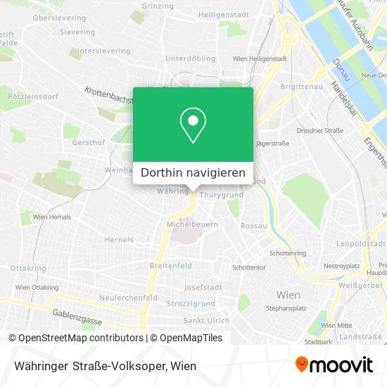 Währinger Straße-Volksoper Karte