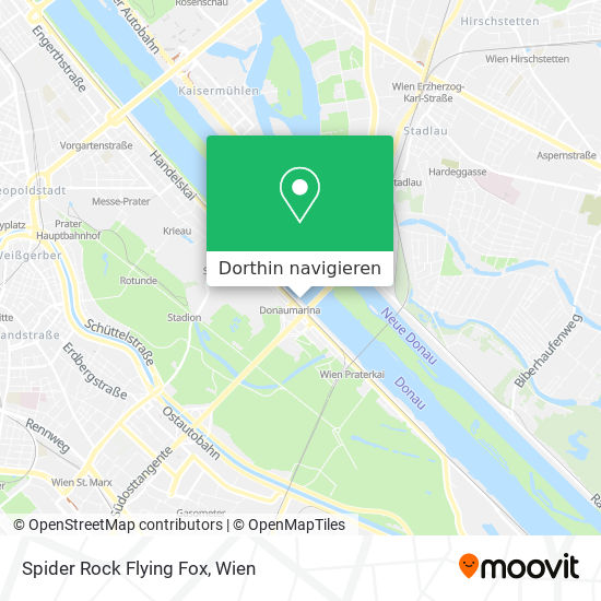 Spider Rock Flying Fox Karte
