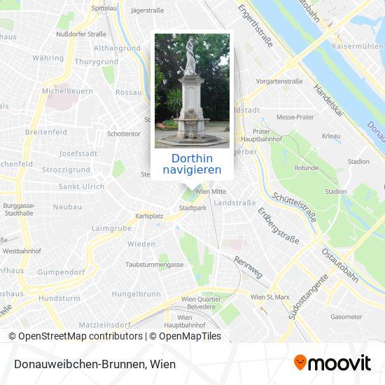 Donauweibchen-Brunnen Karte