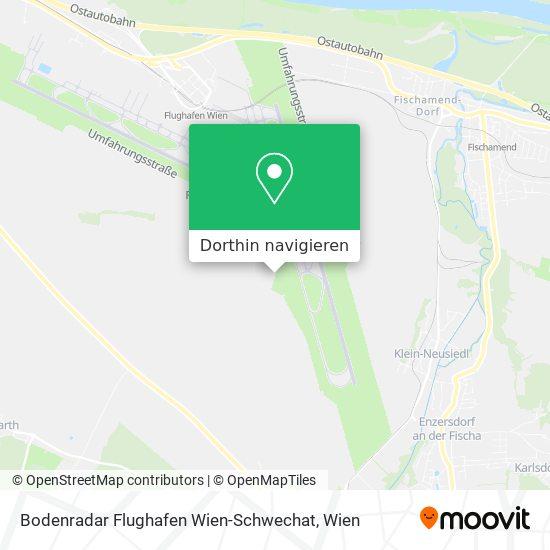 Bodenradar Flughafen Wien-Schwechat Karte