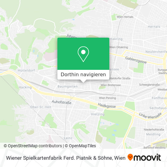 Wiener Spielkartenfabrik Ferd. Piatnik & Söhne Karte