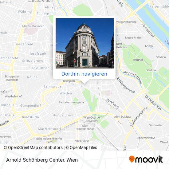 Arnold Schönberg Center Karte
