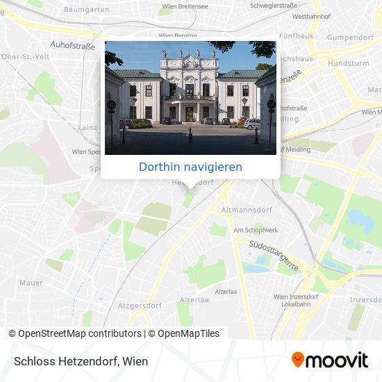 Schloss Hetzendorf Karte