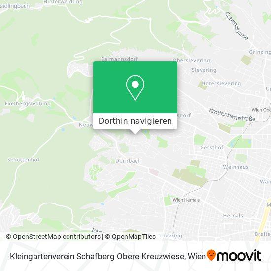 Kleingartenverein Schafberg Obere Kreuzwiese Karte