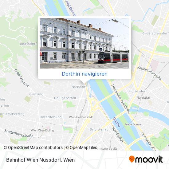Bahnhof Wien Nussdorf Karte