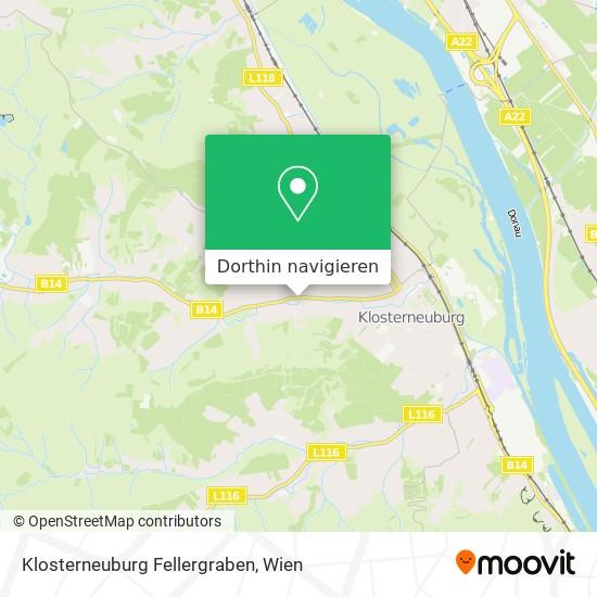 Klosterneuburg Fellergraben Karte