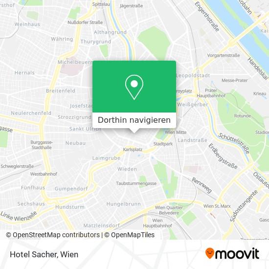Hotel Sacher Karte