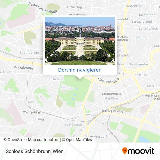 Schloss Schönbrunn Karte