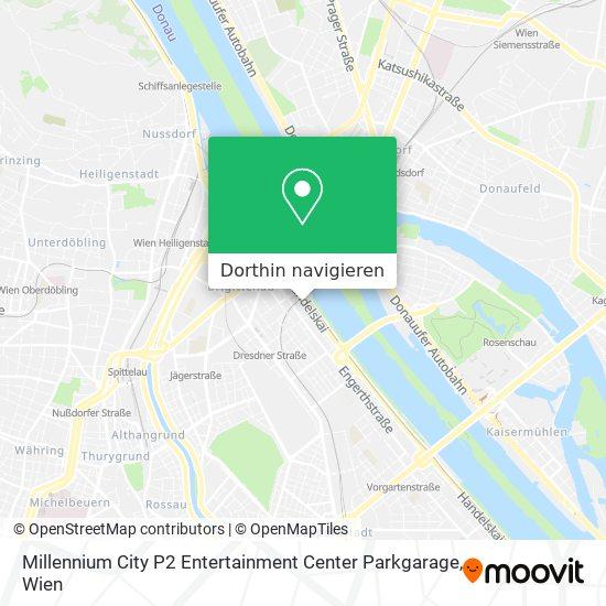 Millennium City P2 Entertainment Center Parkgarage Karte