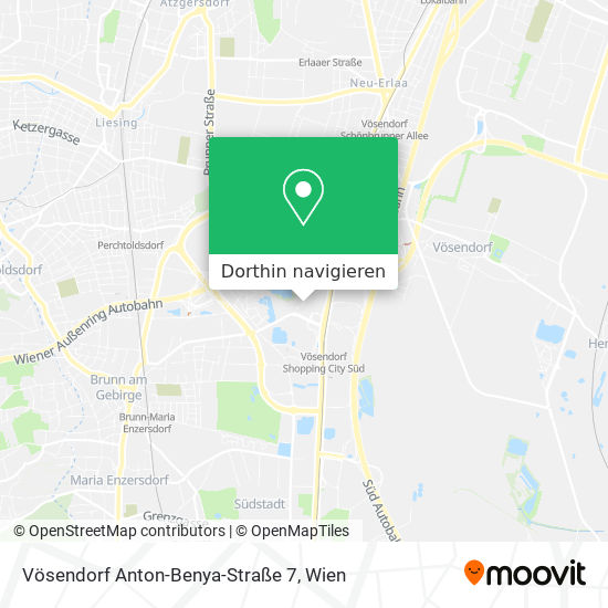 Vösendorf Anton-Benya-Straße 7 Karte