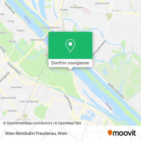 Wien Rennbahn Freudenau Karte