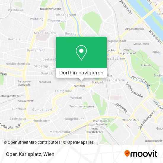 Oper, Karlsplatz Karte